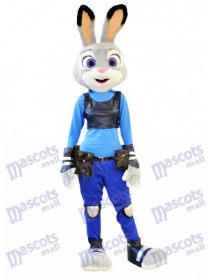 Zootopia Judy Hopps Police Bunny Mascot Costume Cartoon Film Role Clothing Animal