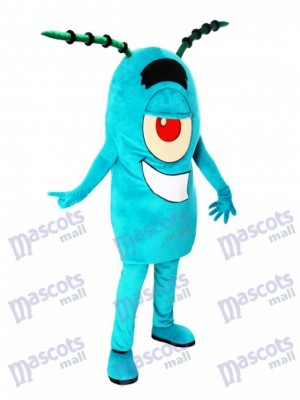 Sheldon J. Plankton Mascot Costume Animal Cartoon