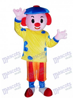 Blue Hat Boy Mascot Costume Cartoon