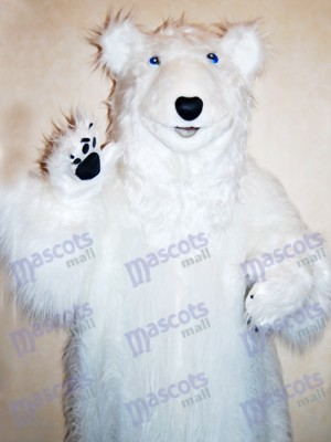 White Bear Mascot Costume Animal