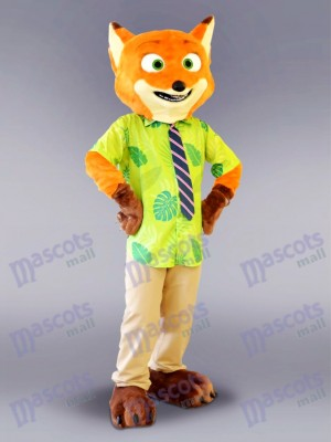 Zootopia Nick Wilde Fox Mascot Costume Cartoon