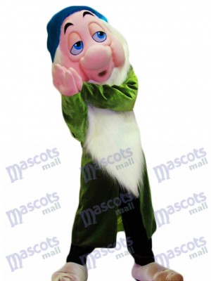 Yawny Green Dwarf Mascot Costume Cartoon Anime