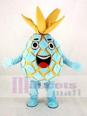 Aqua Pineapple Pete Fruit Mascot Costume Cartoon