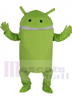 Light Green Android Robot Mascot Costume Cartoon