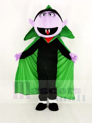 Realistic Sesame Street the Count Von Count Mascot Costume Cartoon