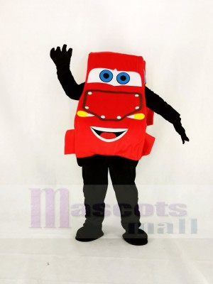 Realistic Cartoon Cars Lightning McQueen Mascot Costume