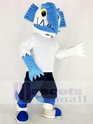 Realistic Swordfish with Black Pants Mascot Costume Cartoon