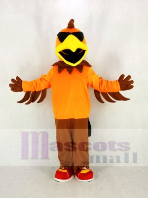Cool Rock Chicken Rooster Mascot Costume Cartoon