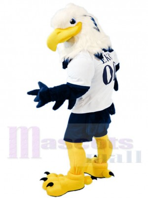 Fierce White Head Blue Eagle Mascot Costume Animal