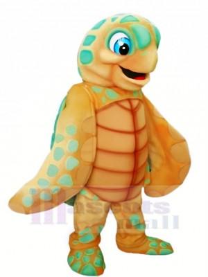 Light Brown Sea Turtle Mascot Costume Cartoon