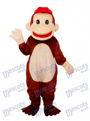Happy Monkey Mascot Adult Costume Animal