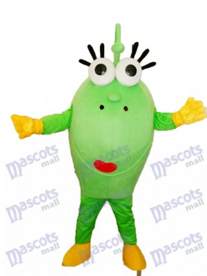Big Green Eyes Monster Mascot Adult Costume Cartoon Anime