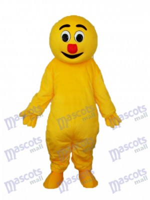 Yellow Monster Mascot Adult Costume Cartoon Anime