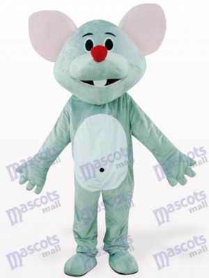 Gray Mouse With Red Nose Animal Mascot Costume