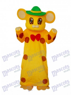 Yellow Library Hang Mice Mouse Mascot Adult Costume Animal