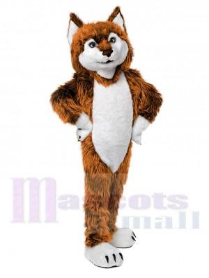 Cute Golden Wolf Mascot Costume Animal