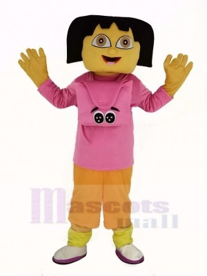 Dora Mascot Costume Cartoon