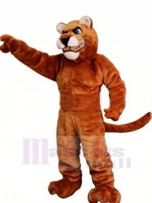 Power Brown Panther Mascot Costumes Adult