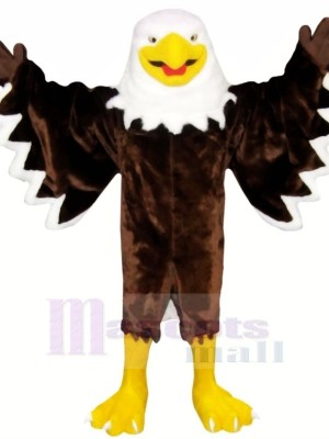 Smiling Brown Eagle Mascot Costumes Animal