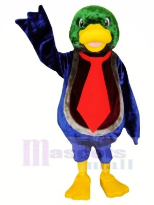 Cute Duck with Red Tie Mascot Costumes Animal
