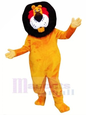 Funny Orange Lion Mascot Costumes Adult