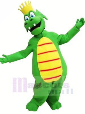 King Green Dragon Mascot Costumes Cartoon
