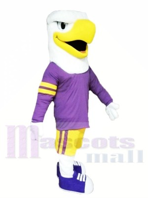 Eagle with Purple Suit Mascot Costumes Animal