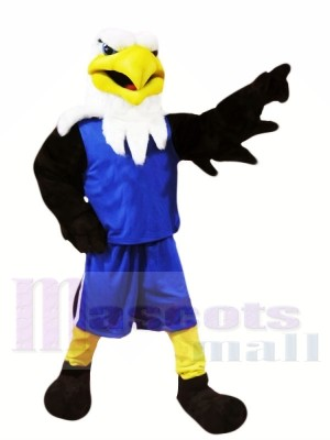 Eagle with Blue Suit Mascot Costumes Animal