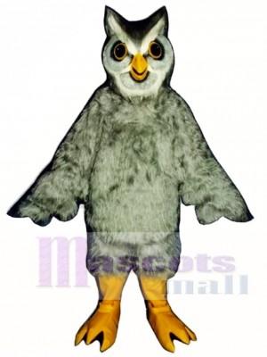 Cute Grey Owl Mascot Costume