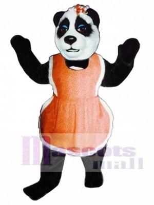 Mrs. Panda with Apron Mascot Costume Animal