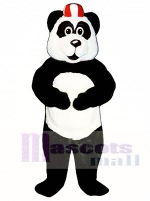 Peter Panda with Hat Mascot Costume Animal