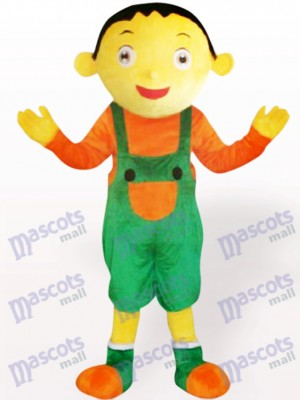Suspender Trousers Boy Adult Mascot Costume