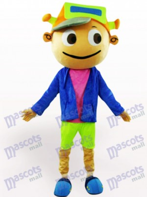 Cap Boy Adult Cartoon Mascot Costume