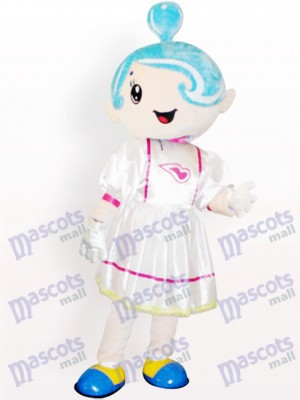 Music Girl Cartoon Adult Mascot Costume