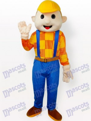 Yellow Hat Boy Cartoon Adult Mascot Costume