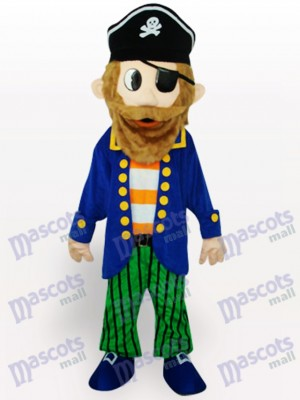 Colorful Pirate Cartoon Adult Mascot Costume