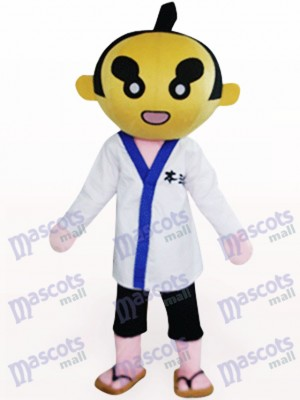 Sumoto People In White Clothes Mascot Costume
