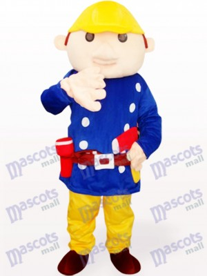 Blue Baboo Engineer Adult Mascot Costume
