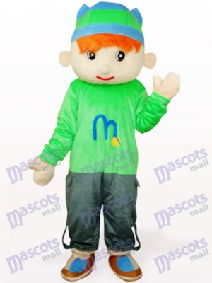 Cute Blue Doudou Boy Cartoon Adult Mascot Costume