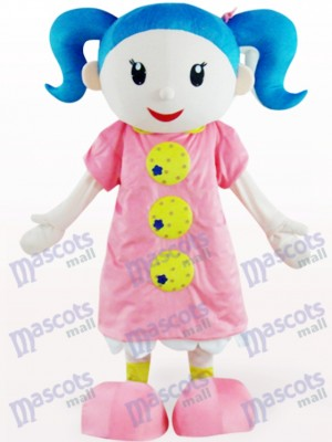 Cute Girl Cartoon Adult Mascot Costume