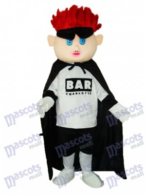 Red Hair Boy (facelift) Mascot Adult Costume Cartoon People