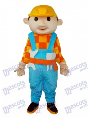 Yellow Hat Child (with wrench) Mascot Adult Costume Cartoon People