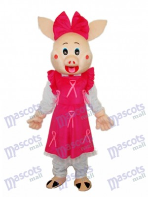 Cute Plump Pig Mascot Adult Costume Animal