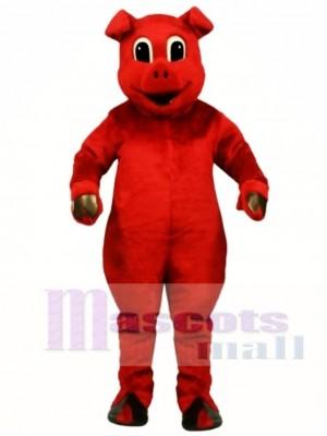 Cute Ruddy Red Pig Mascot Costume Animal