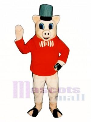 Brick Pig Mascot Costume Animal