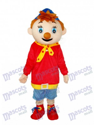 Black Mouth Pinocchio Mascot Adult Costume Cartoon Anime