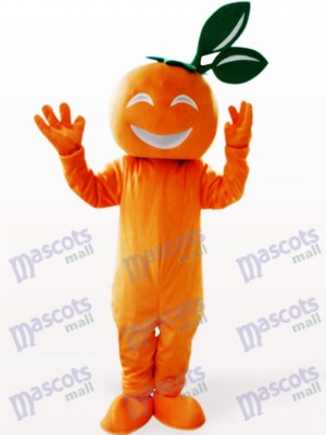 Smiling Navel Orange Fruit Mascot Costume