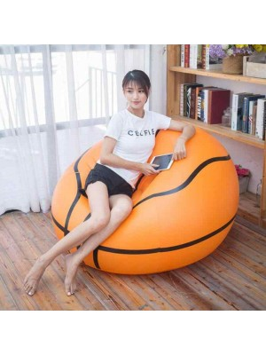 PVC Inflatable Basketball Chair Soccer Ball Air Sofa For Adult Kid