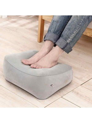 PVC Inflatable Portable Travel Office Footrest Pillow Relaxing