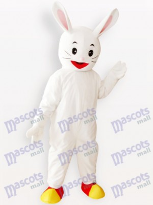 White Easter Bunny Rabbit Animal Adult Mascot Costume